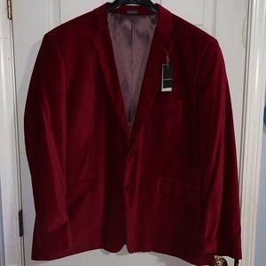 Brand New Men's Red Luxe Velvet Sportcoat.